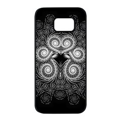 Fractal Filigree Lace Vintage Samsung Galaxy S7 Edge Black Seamless Case