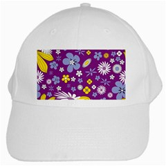 Floral Flowers White Cap