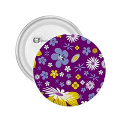 Floral Flowers 2 25  Buttons