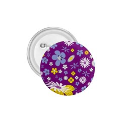 Floral Flowers 1 75  Buttons