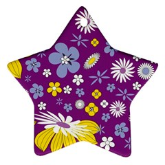 Floral Flowers Ornament (star)