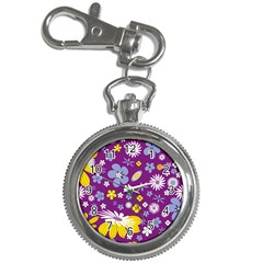 Floral Flowers Key Chain Watches