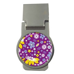 Floral Flowers Money Clips (round)