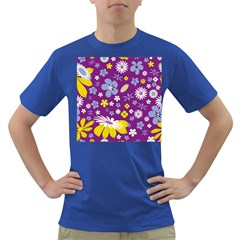 Floral Flowers Dark T Shirt