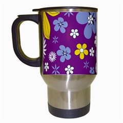 Floral Flowers Travel Mugs (white)