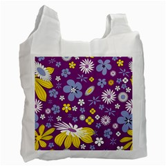 Floral Flowers Recycle Bag (two Side)