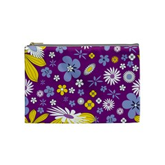 Floral Flowers Cosmetic Bag (medium)