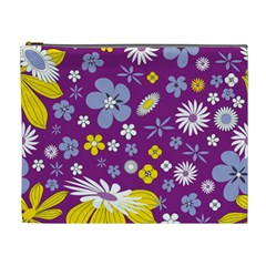 Floral Flowers Cosmetic Bag (xl)