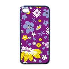 Floral Flowers Apple Iphone 4 Case (black)