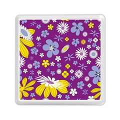 Floral Flowers Memory Card Reader (square)