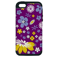 Floral Flowers Apple Iphone 5 Hardshell Case (pc+silicone)