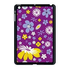 Floral Flowers Apple Ipad Mini Case (black)
