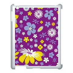 Floral Flowers Apple Ipad 3/4 Case (white)