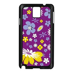 Floral Flowers Samsung Galaxy Note 3 N9005 Case (black)