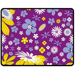 Floral Flowers Double Sided Fleece Blanket (medium)