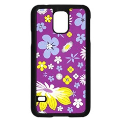 Floral Flowers Samsung Galaxy S5 Case (black)