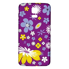 Floral Flowers Samsung Galaxy S5 Back Case (white)