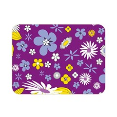 Floral Flowers Double Sided Flano Blanket (mini)