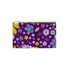 Floral Flowers Cosmetic Bag (xs)