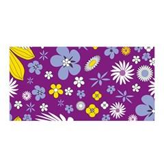 Floral Flowers Satin Wrap