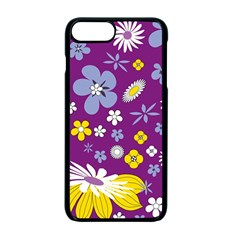 Floral Flowers Apple Iphone 7 Plus Seamless Case (black)