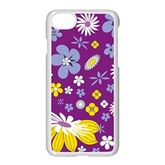 Floral Flowers Apple Iphone 7 Seamless Case (white)