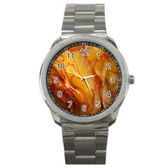 Flowers Leaves Leaf Floral Summer Sport Metal Watch
