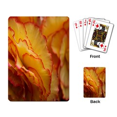 Flowers Leaves Leaf Floral Summer Playing Card