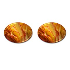 Flowers Leaves Leaf Floral Summer Cufflinks (oval)