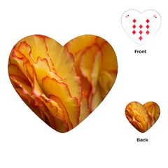 Flowers Leaves Leaf Floral Summer Playing Cards (heart)