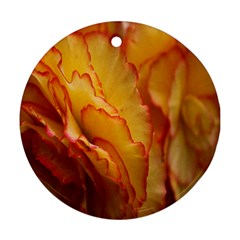 Flowers Leaves Leaf Floral Summer Round Ornament (two Sides)