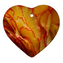 Flowers Leaves Leaf Floral Summer Heart Ornament (two Sides)
