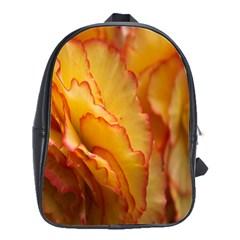 Flowers Leaves Leaf Floral Summer School Bag (large)