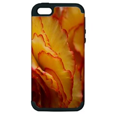 Flowers Leaves Leaf Floral Summer Apple Iphone 5 Hardshell Case (pc+silicone)