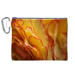 Flowers Leaves Leaf Floral Summer Canvas Cosmetic Bag (xl)