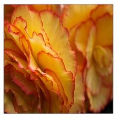 Flowers Leaves Leaf Floral Summer Large Satin Scarf (square)