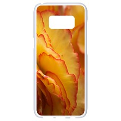 Flowers Leaves Leaf Floral Summer Samsung Galaxy S8 White Seamless Case