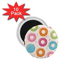 Colored Doughnuts Pattern 1 75  Magnets (10 Pack)