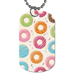 Colored Doughnuts Pattern Dog Tag (two Sides)