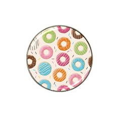 Colored Doughnuts Pattern Hat Clip Ball Marker (10 Pack)