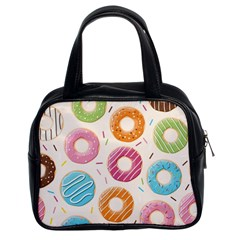 Colored Doughnuts Pattern Classic Handbags (2 Sides)
