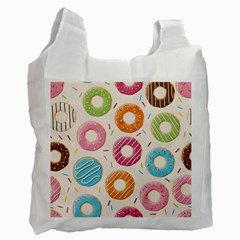 Colored Doughnuts Pattern Recycle Bag (one Side)
