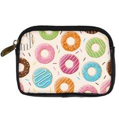 Colored Doughnuts Pattern Digital Camera Cases