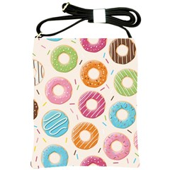 Colored Doughnuts Pattern Shoulder Sling Bags