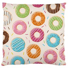 Colored Doughnuts Pattern Large Cushion Case (two Sides)