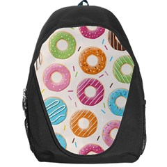 Colored Doughnuts Pattern Backpack Bag