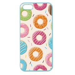 Colored Doughnuts Pattern Apple Seamless Iphone 5 Case (color)