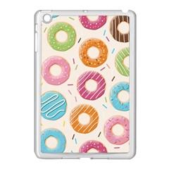 Colored Doughnuts Pattern Apple Ipad Mini Case (white)