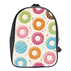 Colored Doughnuts Pattern School Bag (xl)