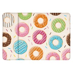 Colored Doughnuts Pattern Samsung Galaxy Tab 8 9  P7300 Flip Case